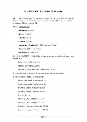 Reglamento cross villa de adanero